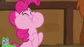 Pinkie Pie happily eating vanilla yak cake S7E11.png