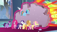Pinkie Pie helps hold off the villains S9E24