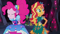 Pinkie Pie slides up to Sunset Shimmer EG4b.png