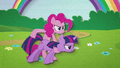 Pinkie Pie using Twilight as a weapon BFHHS3.png
