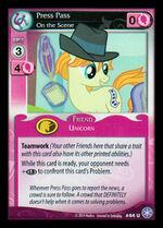 Press Pass, On the Scene card MLP CCG