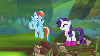 "Rainbow Dash ""we're doing this together"" S8E17"