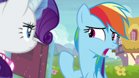 "Rainbow Dash confused ""he was?"" S8E17"