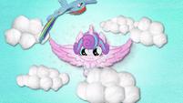 Rainbow Dash flies around Baby Flurry Heart BFHHS3