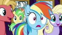 Rainbow Dash in wide-eyed surprise S8E5