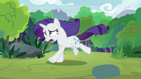 Rarity running into the sanctuary S8E4