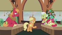 "Applejack ""never asked why they did 'em!"" S5E20"