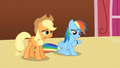 Applejack and Rainbow Dash bored S3E3.png
