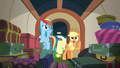 Applejack calls out to Fluttershy and Pinkie S6E18.png