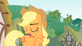 Applejack looking behind while talking S01E15.png
