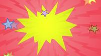Cartoony burst effect of stars S7E21