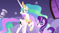 Celestia and Starlight hear Nightmare Moon's voice S7E10