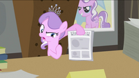 Diamond Tiara holding newspaper S2E23