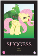 """Fluttershy """"Success"""" poster from ComicCon 2012"""