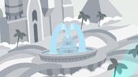 Fountain shoots water in model resort S8E16