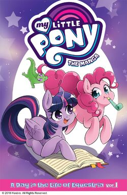 MLP The Manga - A Day in the Life of Equestria Vol. 1 cover