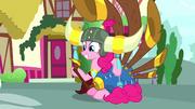 Pinkie Pie with yak helmet and yovidaphone S8E18