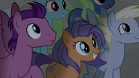 Ponies excited to see Flim and Flam S8E16