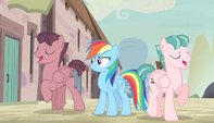 Rainbow Dash confused by singing S5E1