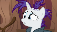Rarity upset by Zecora's shock S7E19