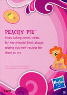 Toys R Us Peachy Pie collector card back