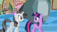 Twilight grumpily agrees to bring Tom in S2E2