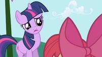 Twilight tells Apple Bloom she's busy S1E01