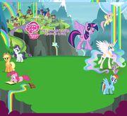 Villa de las cascadas arco iris
