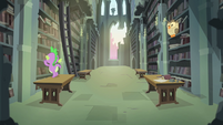 A part of the library of the Castle of the Royal Pony Sisters, S4E22