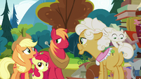 Applejack asking Goldie Delicious S7E13