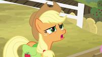 Applejack asking if Big Mac's strong enough S4E09