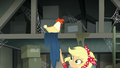 Applejack pulls tarp off barn's upper level EGDS25.png