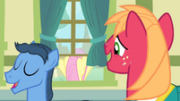 Big Mac looking at Fluttershy S4E14