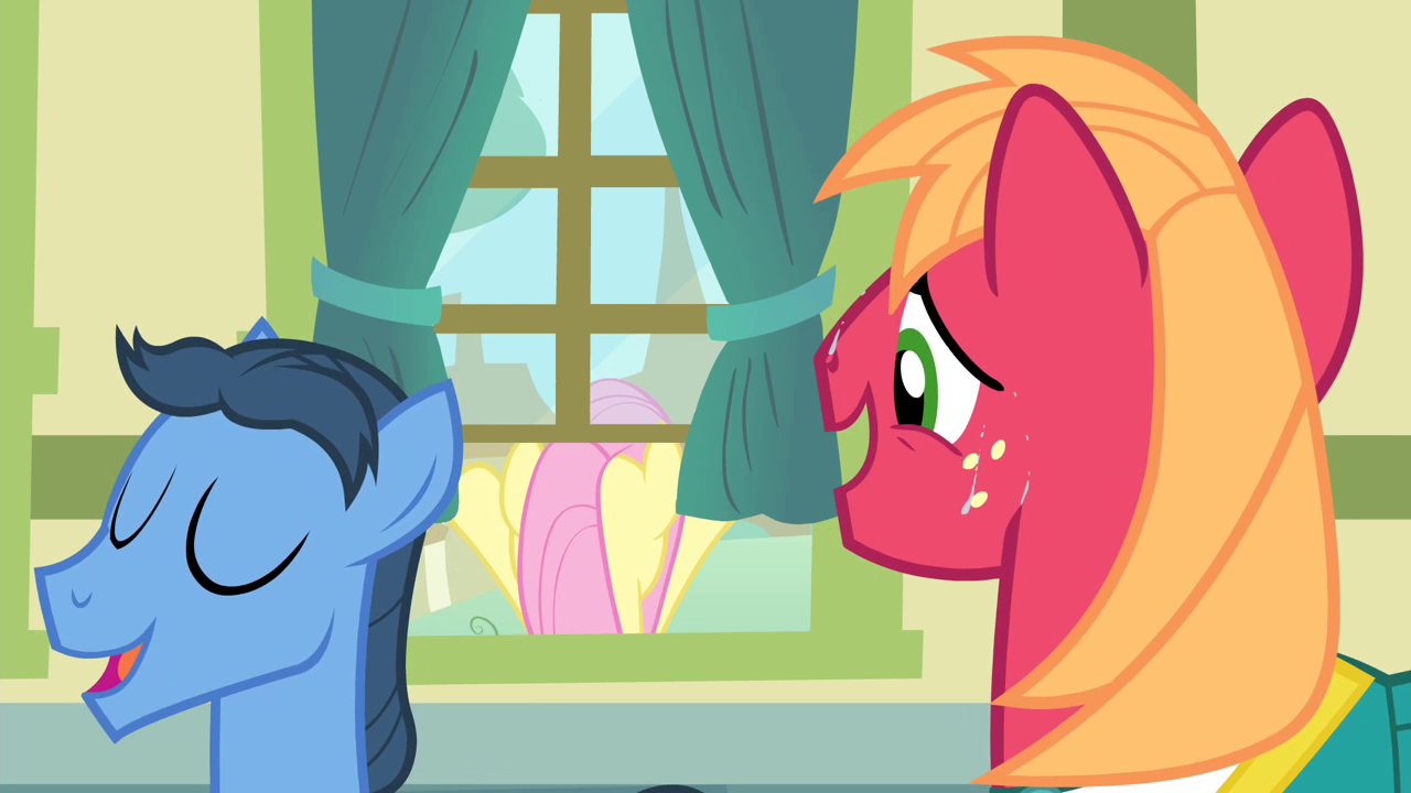 image big mac looking at fluttershy s4e14 png my little pony