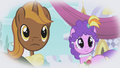 Chocolate Tail and Purple Wave looking at Rarity S1E03.png