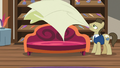 Davenport drapes cover over Rarity's chaise S7E19.png