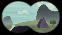 Empty mountain valley in Scootaloo's binocular vision S7E8