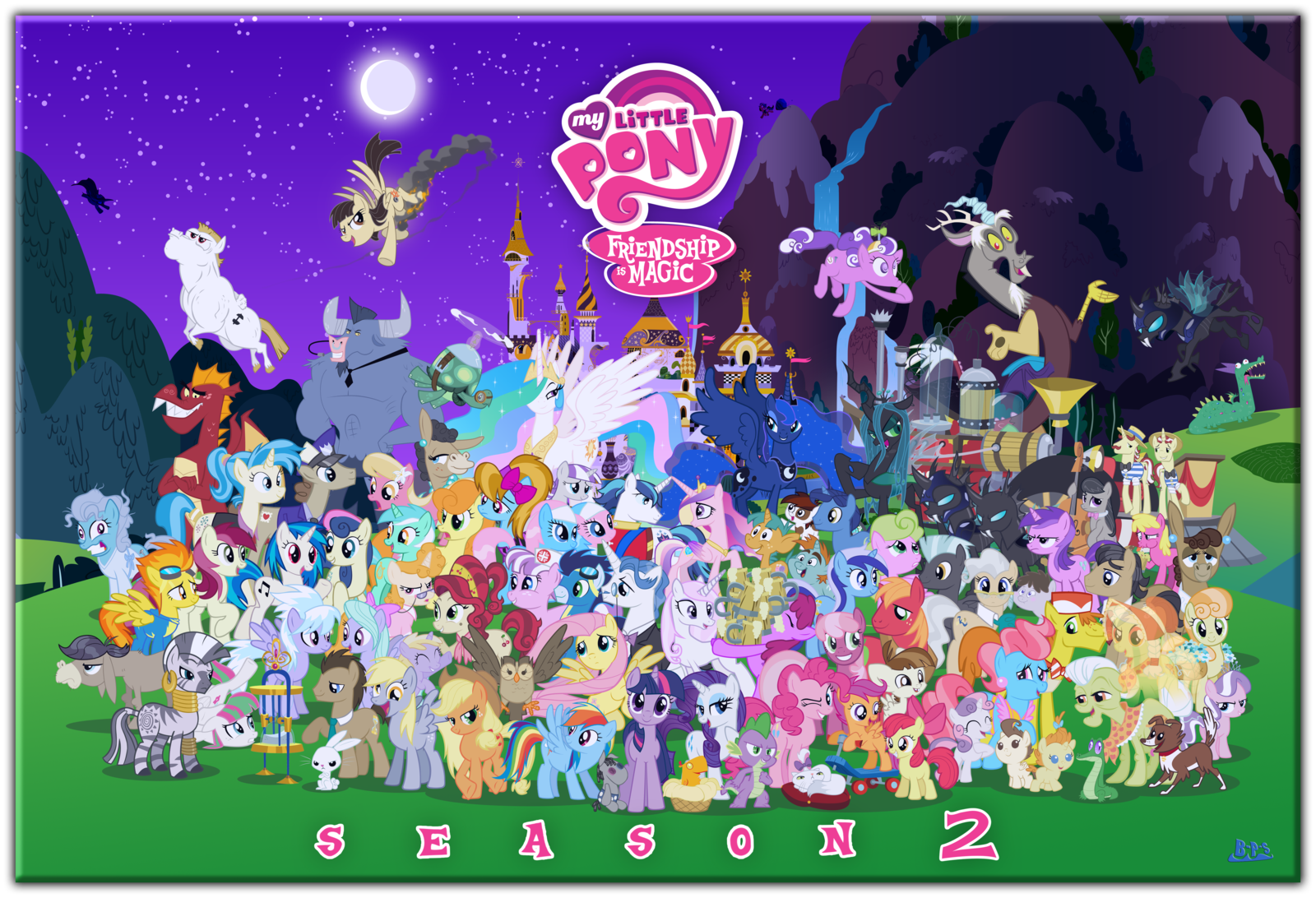 image fanmade mlp fim s2 character cluster fun by blue paint sea