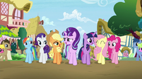 Mane 6 and Starlight sings --When you find it, it's the key-- S5E26