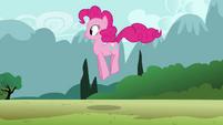 Pinkie Pie clone hopping down the path S3E3