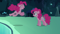 Pinkie Pie double excited to see the real Pinkie Pie S3E03