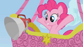 Pinkie Pie observing the racers from a hot air balloon S1E13.png