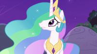 Princess Celestia looking at the moon S7E1