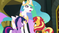 Princess Celestia looking offended at Sunset EGFF.png