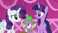 Rarity --Oh, sorry, darling-- S5E22