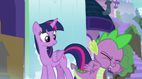 Spike about to belch up a scroll S9E5