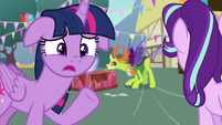 "Twilight Sparkle ""on the same day as Ember?!"" S7E15"