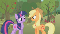 "Twilight and Applejack ""um, no?"" S1E04"