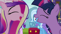 Twilight and Cadance laugh together S8E19