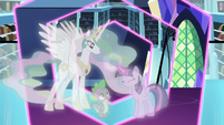 Twilight creates simulation of the Crystal Empire S7E1